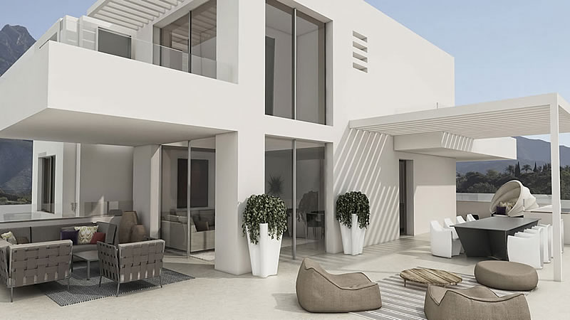 Modern penthouse apartment in golden mile marbella