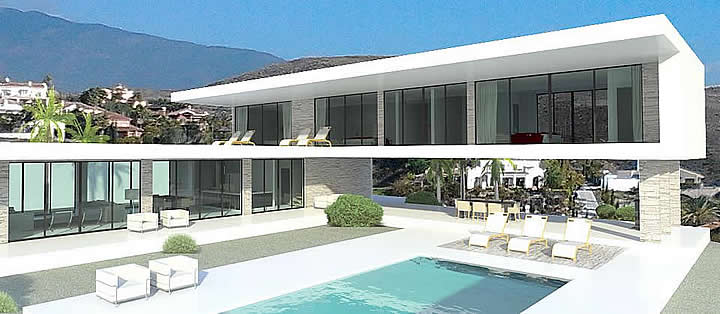 Modern villas for sale in spain portugal france dubai for Glass houses for sale in california