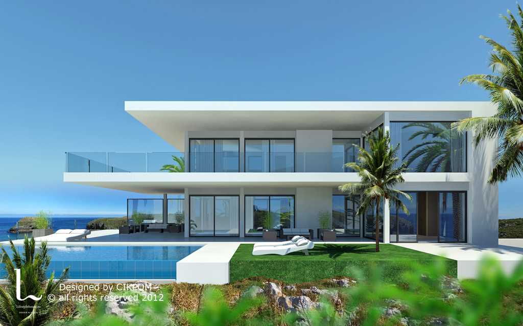 Modern turnkey villas in spain france portugal for Bella villa interior design