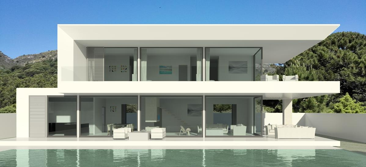 Modern turnkey villas in spain france portugal for Modern house minimalist design