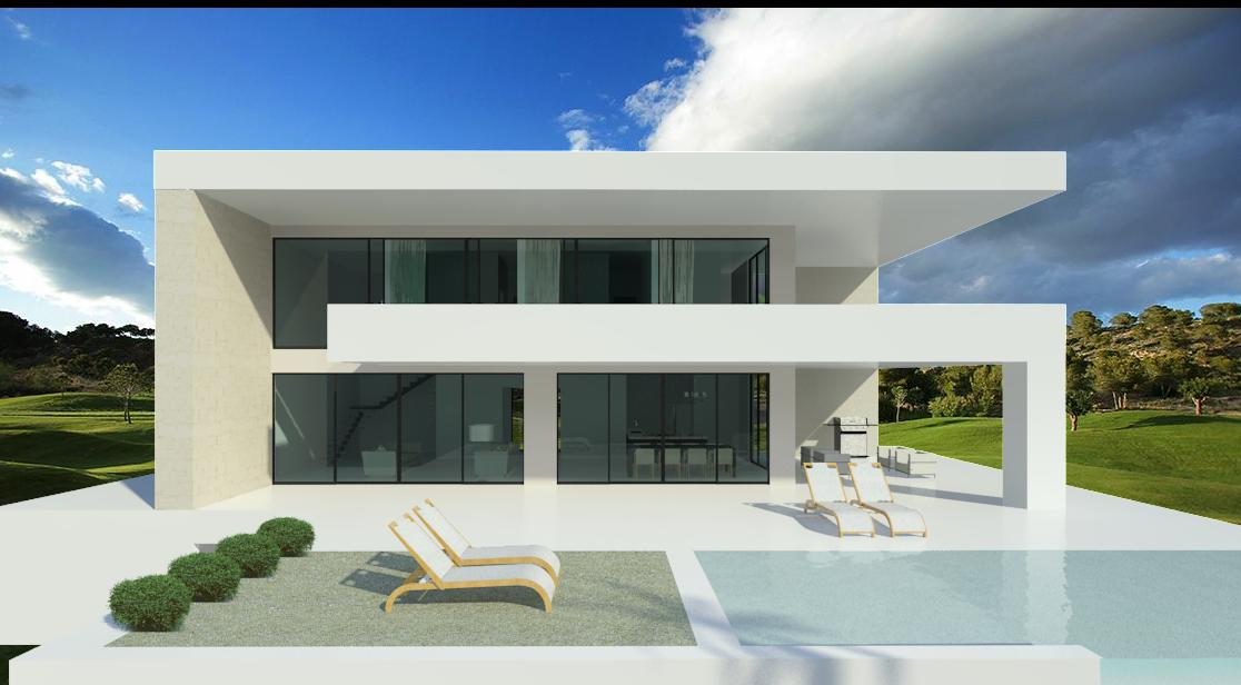 Modern turnkey villas in spain france portugal for Architecture petite villa