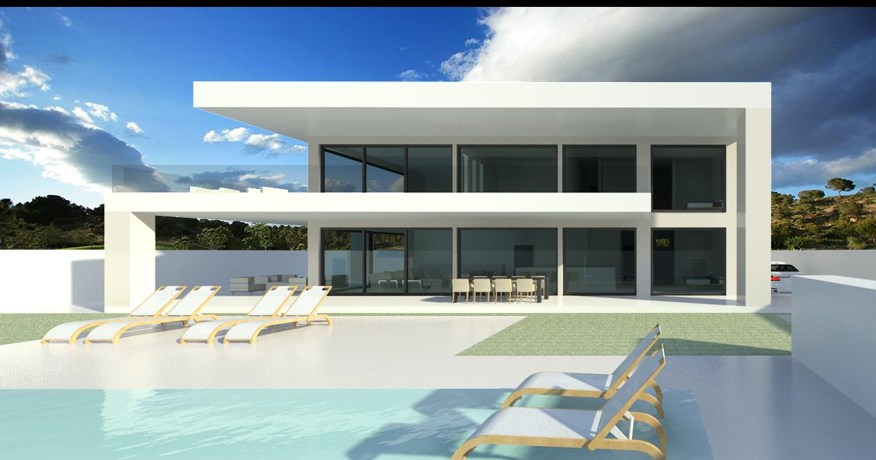Modern turnkey villas in spain france portugal for Modern glass house floor plans